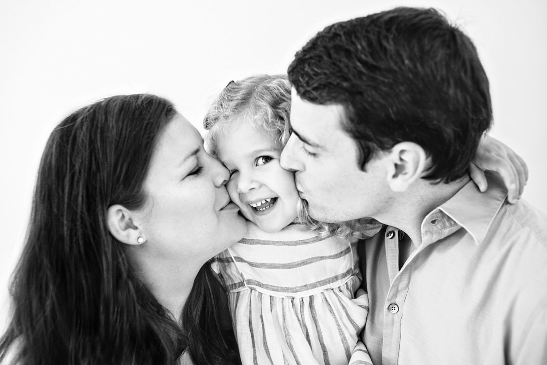 black and white London family photography session
