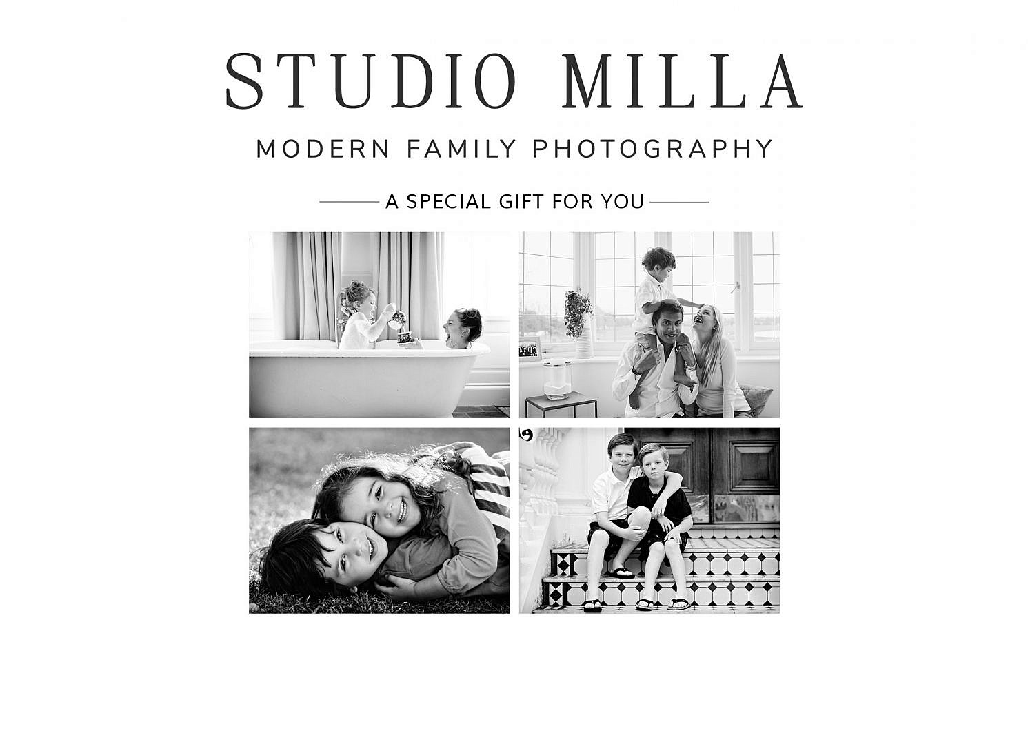 family photoshoot gift voucher London